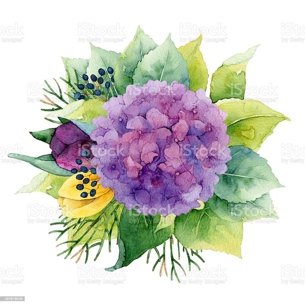 Floral composition vector art illustration