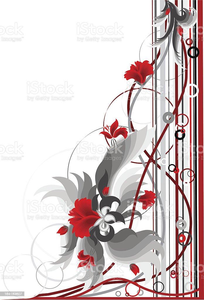 Floral corner. royalty-free stock vector art