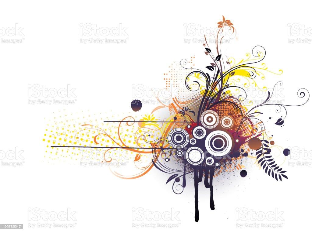 Florale dekorativen Hintergrund Lizenzfreies florale dekorativen hintergrund stock vektor art und mehr bilder von abstrakt