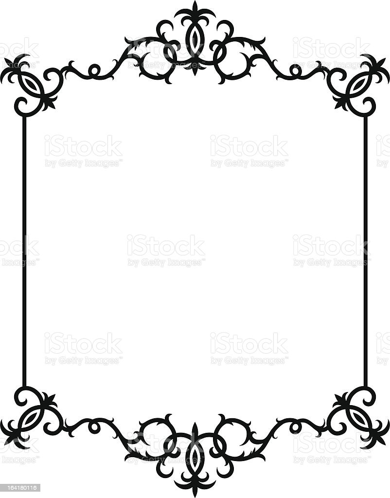 Floral design corners and border royalty-free stock vector art