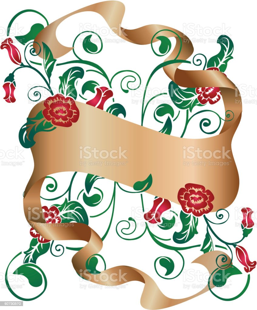 Floral design element and scroll royalty-free stock vector art