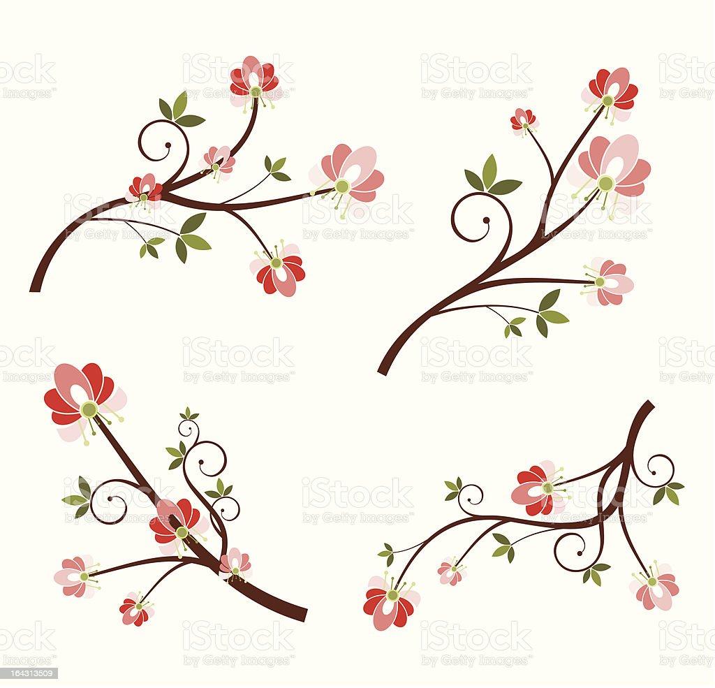 Floral Design Set royalty-free floral design set stock vector art & more images of art and craft