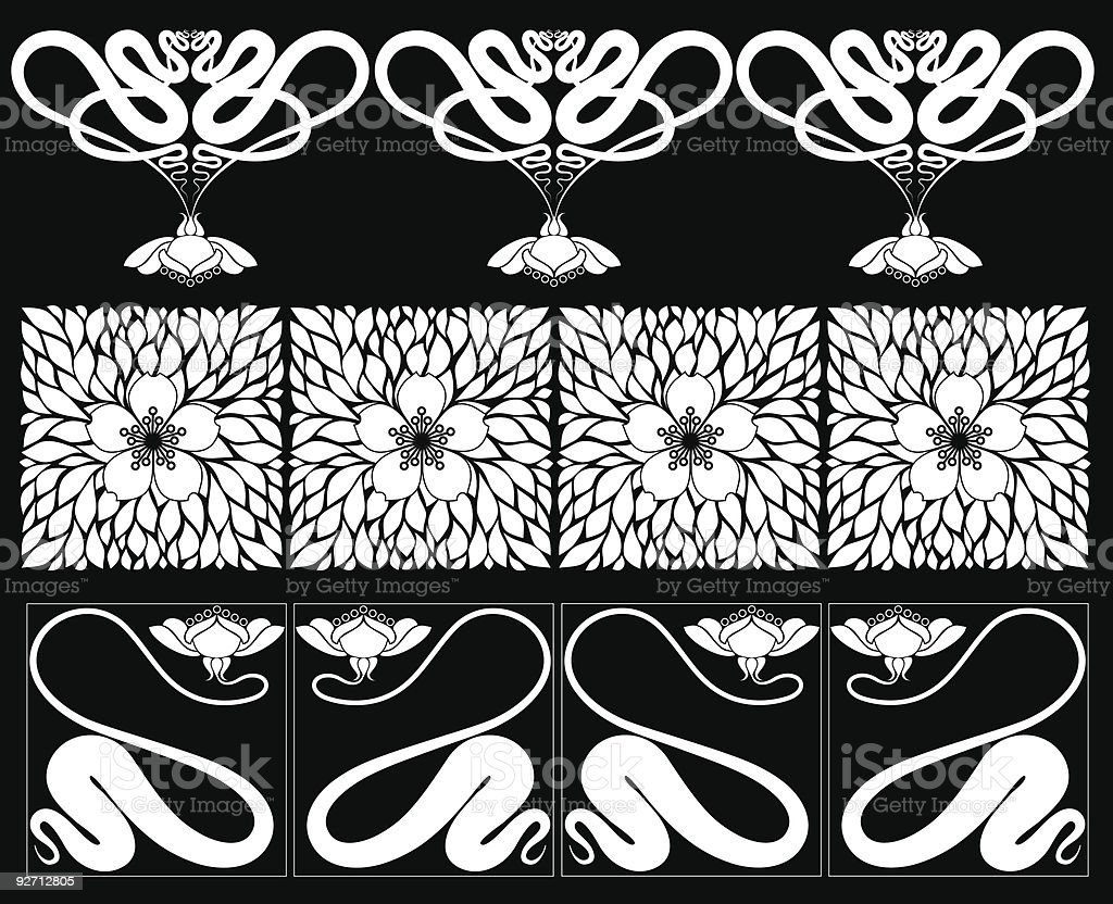 Floral elements and borders royalty-free floral elements and borders stock vector art & more images of abstract