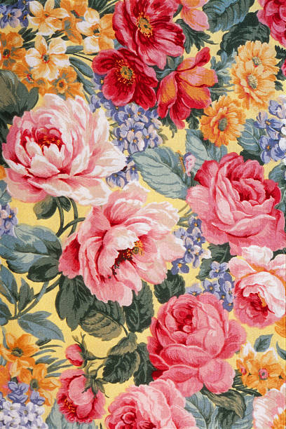 Tissu fleuri 01 - Illustration vectorielle
