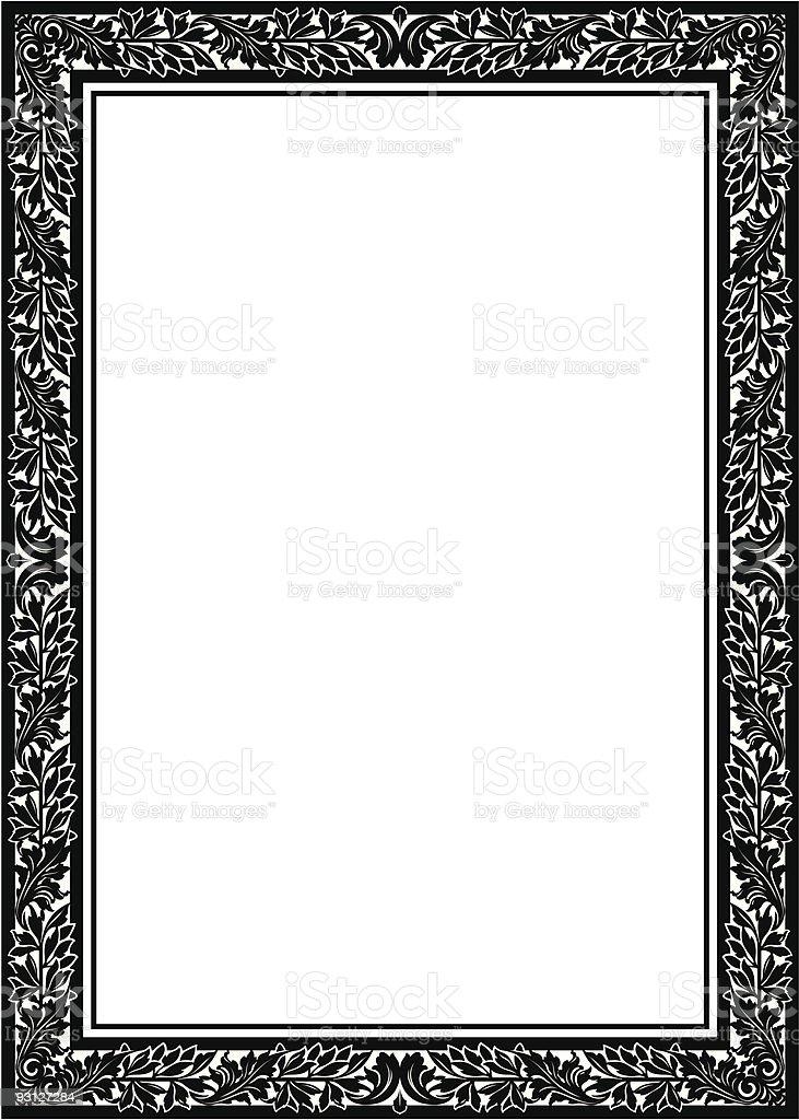Floral Frame / Border (vector) vector art illustration