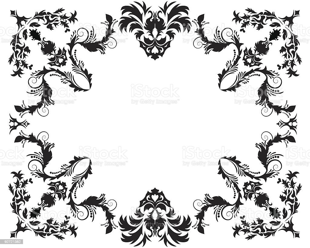 floral frame  Abstract stock vector