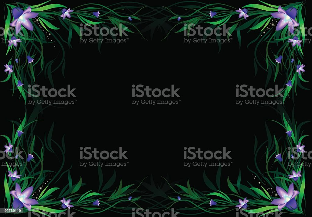 floral frame - Royalty-free Angle stock vector
