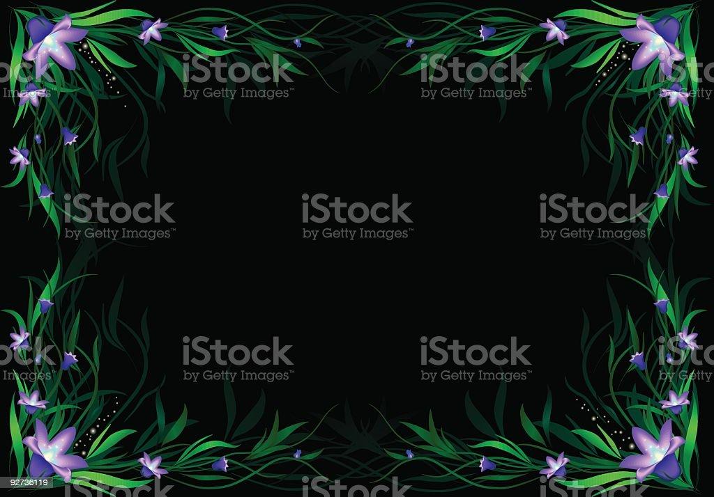 floral frame – Vektorgrafik