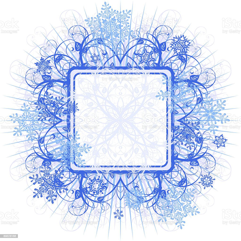 floral frame & snowflakes royalty-free floral frame snowflakes stock vector art & more images of abstract