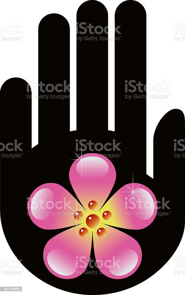 Floral hand vector art illustration