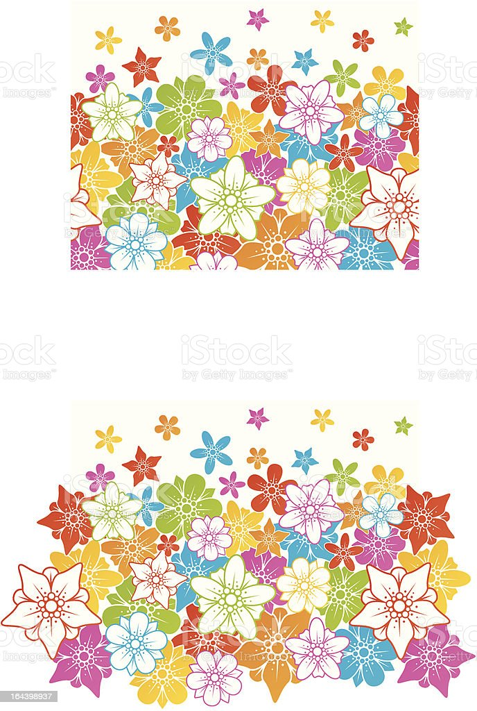 Floral horizontal seamless background royalty-free stock vector art