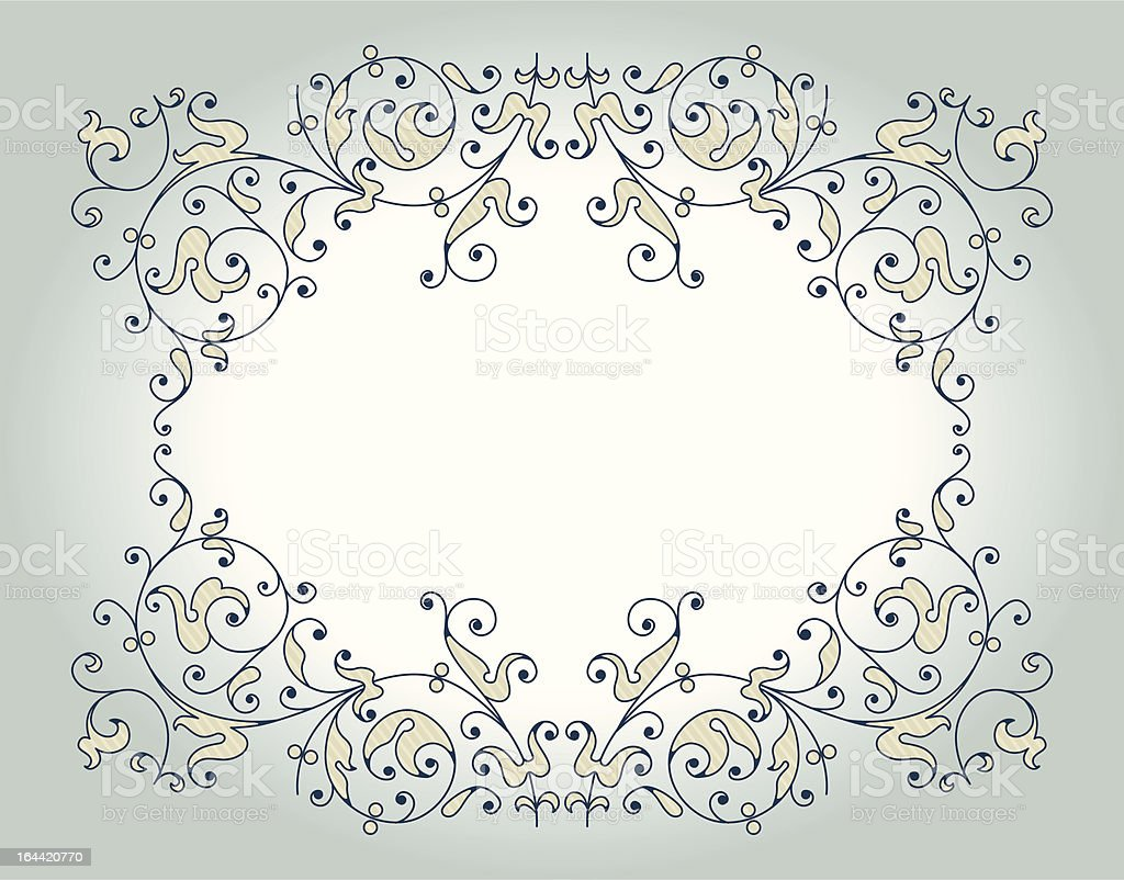 floral lace pattern royalty-free stock vector art