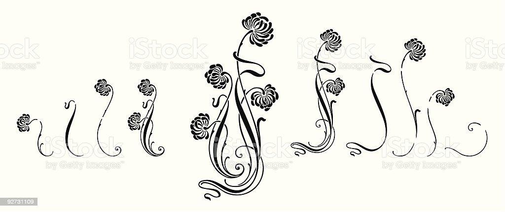 Adorno Floral (vector ilustración de adorno floral vector y más vectores libres de derechos de anticuado libre de derechos