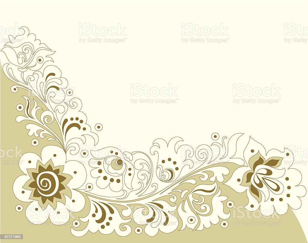 Floral Ornamental Pattern royalty-free stock vector art