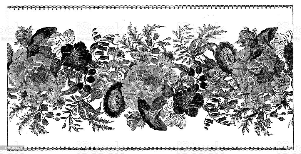 Floral Ornaments I Antique Design Illustrations royalty-free stock vector art