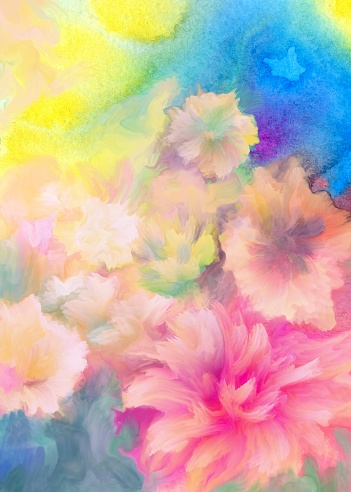floral painted background