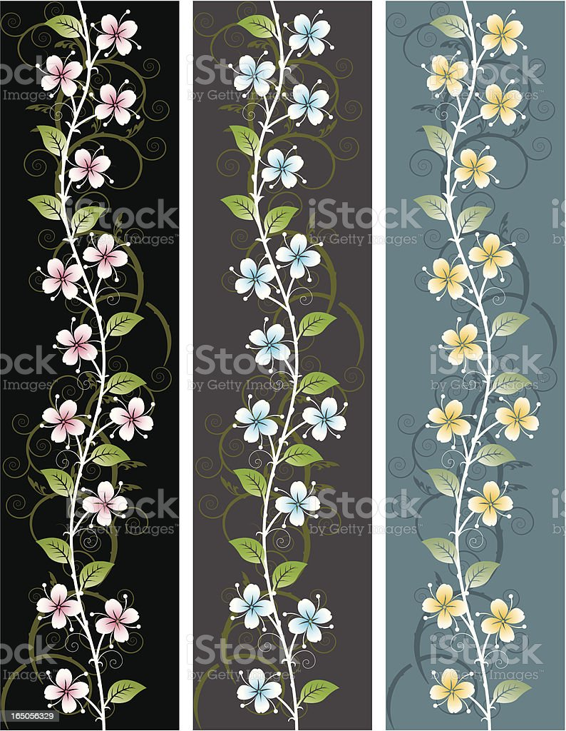 Floral panel royalty-free stock vector art