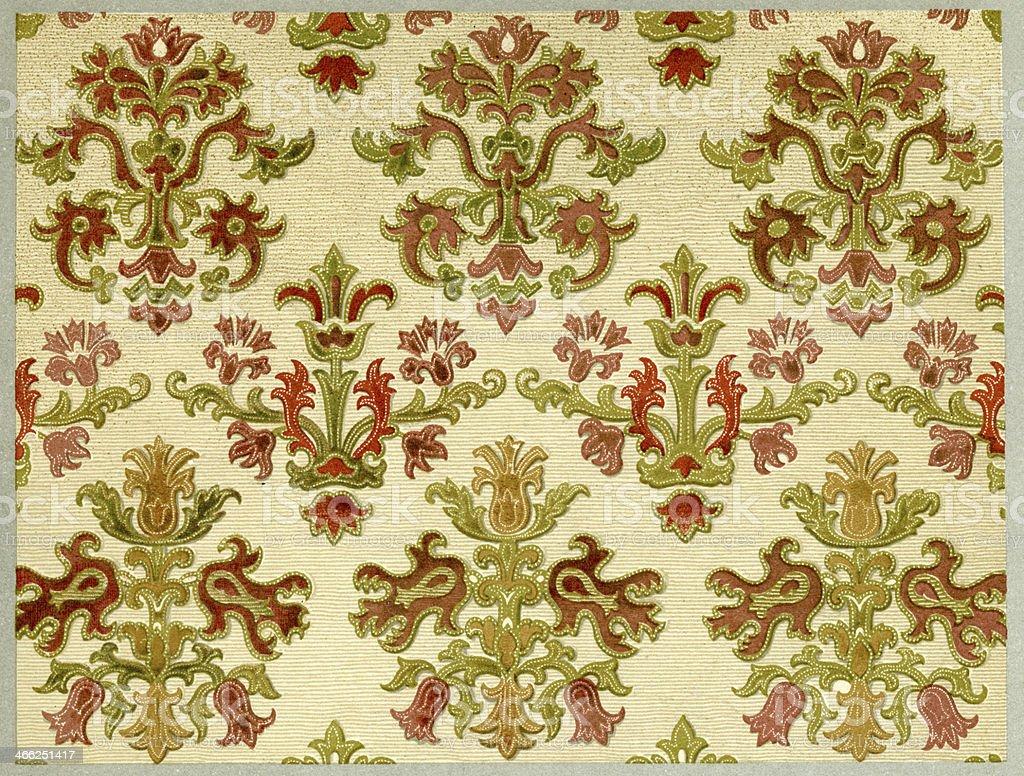 Floral Pattern - 16th Century vector art illustration