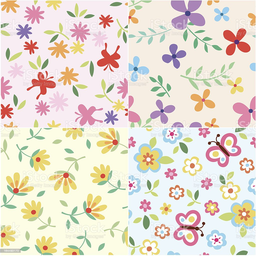 floral pattern design royalty-free stock vector art