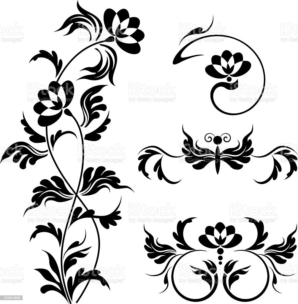 floral pattern I royalty-free stock vector art