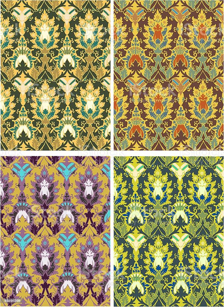Wzór kwiatowy wzór kwiatowy - stockowe grafiki wektorowe i więcej obrazów abstrakcja royalty-free