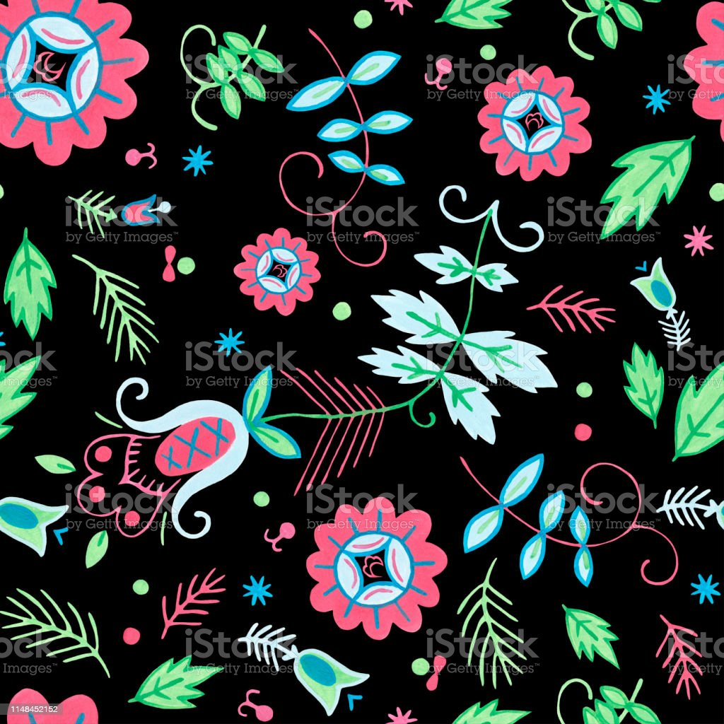 Seamless pattern for beauty and bath natural products. Botanical...