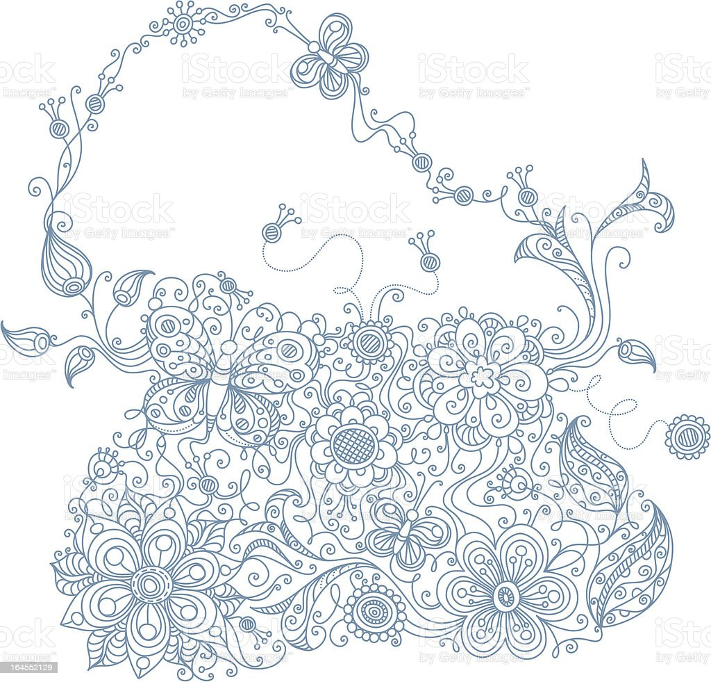 Floral purse royalty-free floral purse stock vector art & more images of abstract