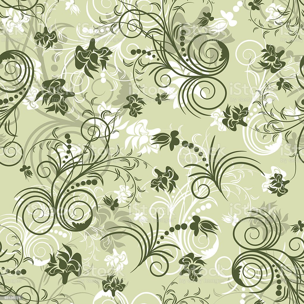floral seamless background royalty-free stock vector art