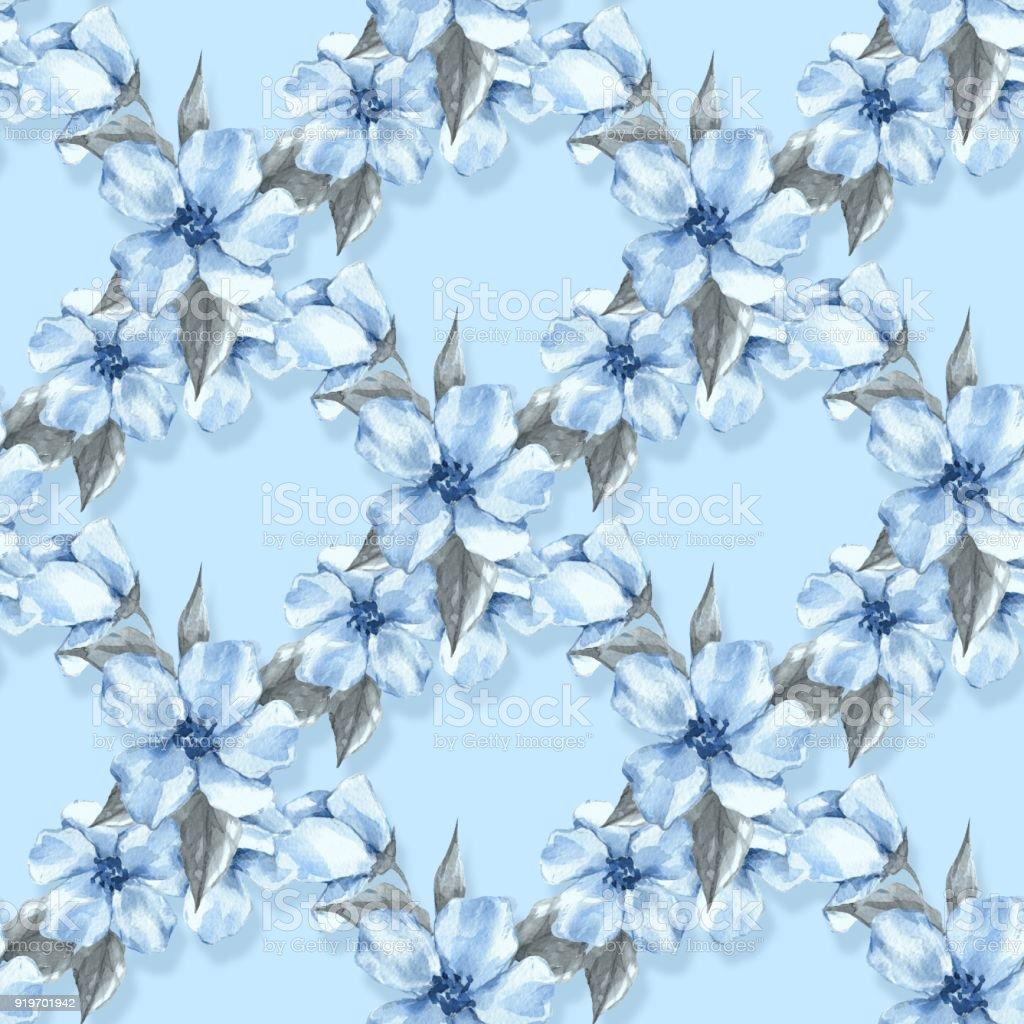 135f70d651cb Nahtlose Blumenmuster mit blauen Blumen 4 Lizenzfreies nahtlose blumenmuster  mit blauen blumen 4 stock vektor art