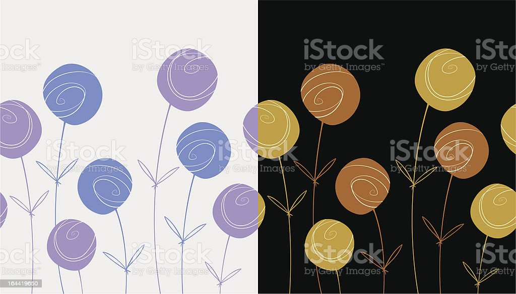 Floral seamless patterns royalty-free stock vector art