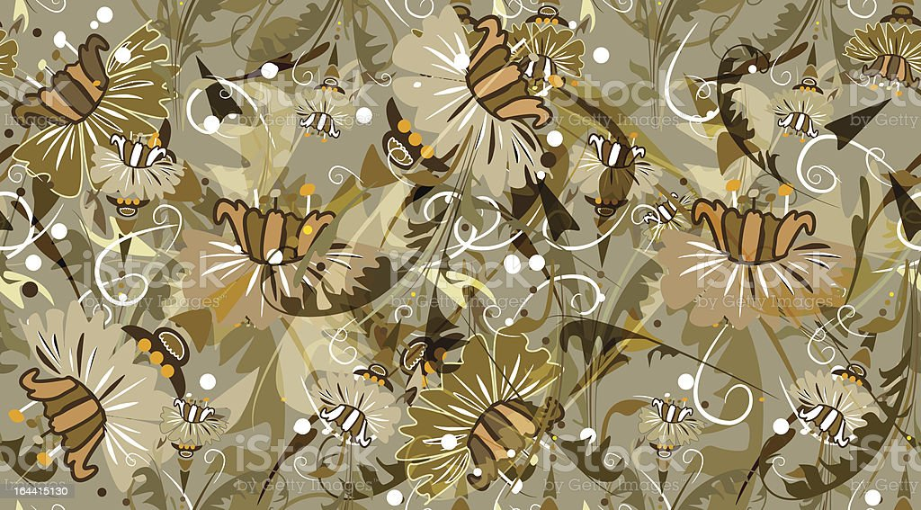 Floral seamless texture royalty-free stock vector art