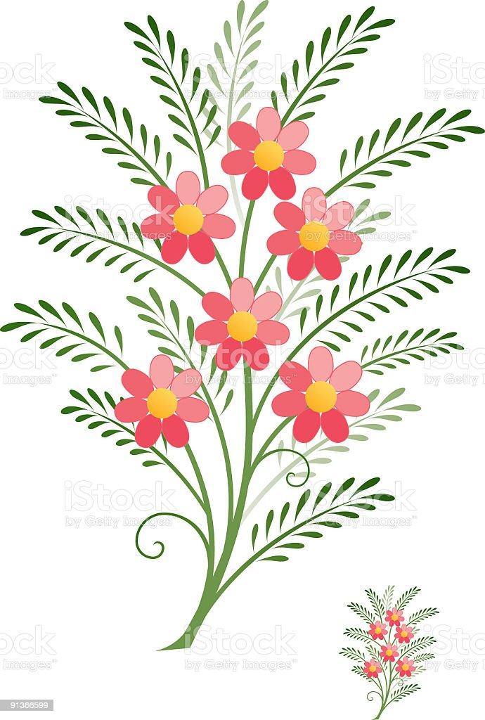 Floral spray vector art illustration