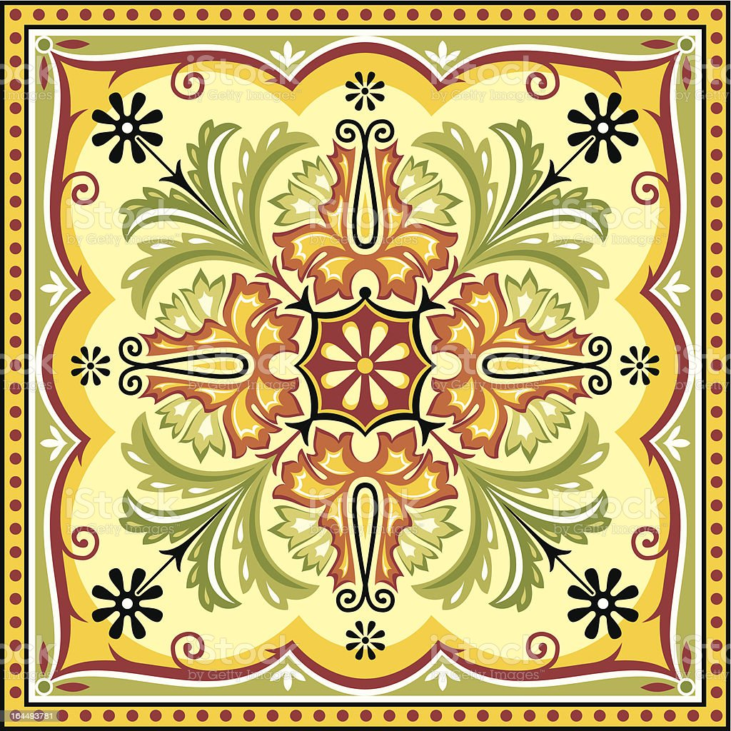 floral square ornament royalty-free floral square ornament stock vector art & more images of abstract