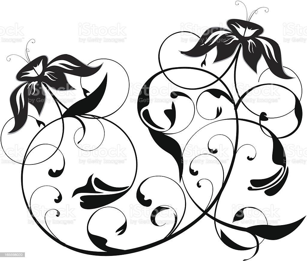 Tatuaje floral ilustración de tatuaje floral y más banco de imágenes de anticuado libre de derechos