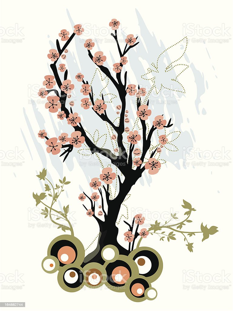 Floral Tree Background Series royalty-free stock vector art