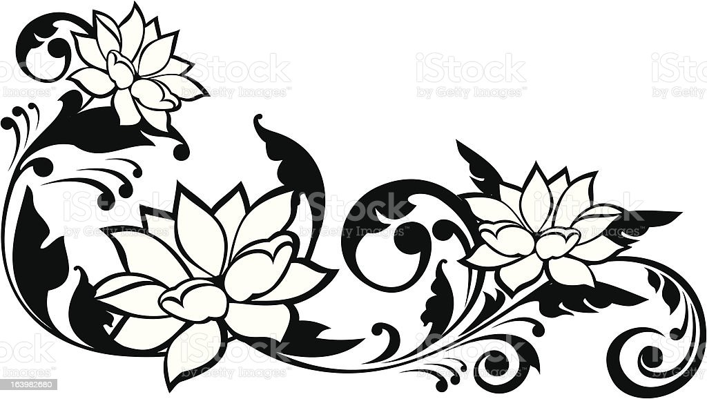 Line Drawing Flower Images : Flowers line drawing pictures ideas