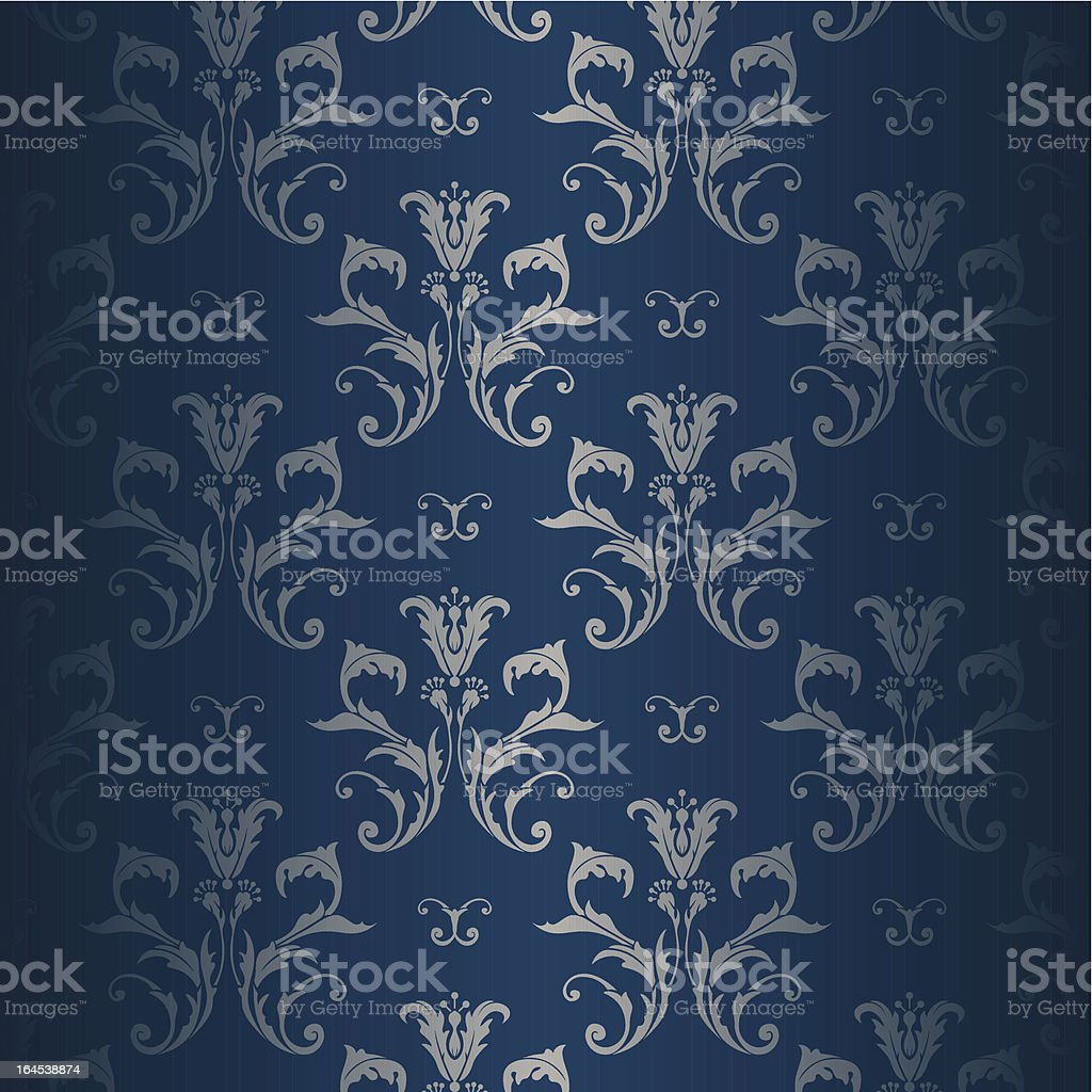 Floral Vintage Wallpaper royalty-free stock vector art