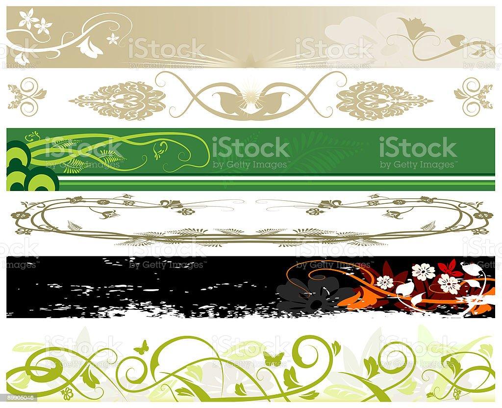 Sitio Web de banners florales ilustración de sitio web de banners florales y más banco de imágenes de abstracto libre de derechos
