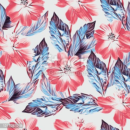 istock Floral-5 and 6, seamless pattern, art. 1211297019