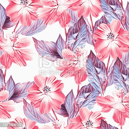 istock Floral-5 and 6, seamless pattern, art. 1211306122