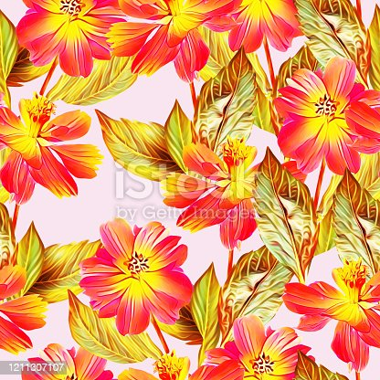 istock Floral-5 and 6, seamless pattern, art. 1211307107