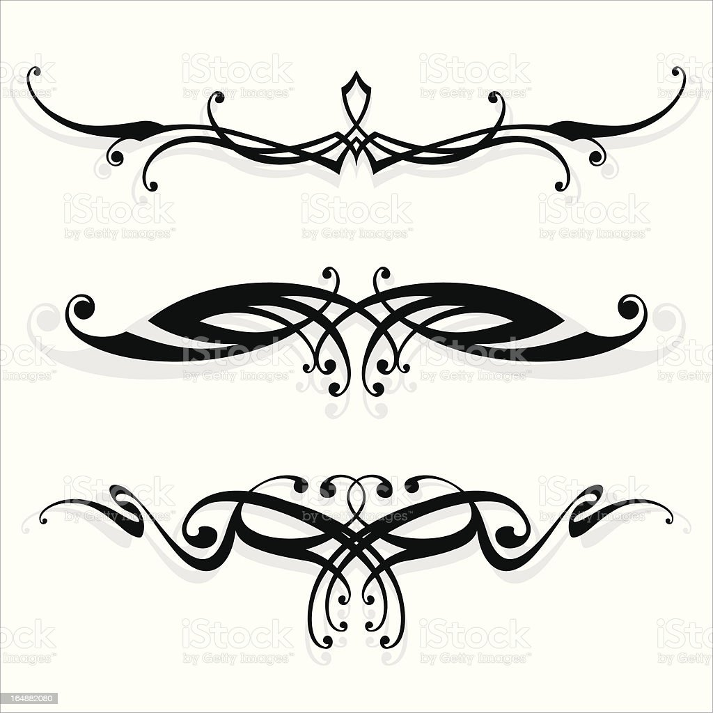 floral_ lines royalty-free stock vector art