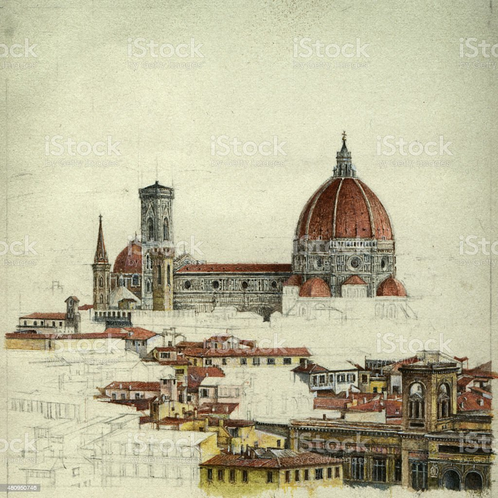 Florence vector art illustration