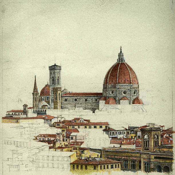 florence - renaissance style stock illustrations, clip art, cartoons, & icons