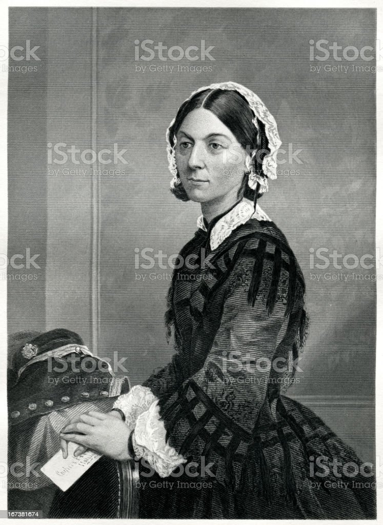 Florence Nightingale vector art illustration