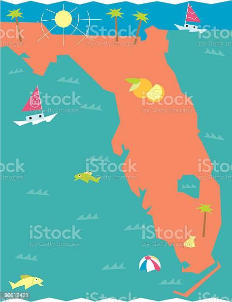 Florida-vektorgrafik och fler bilder på Atlanten