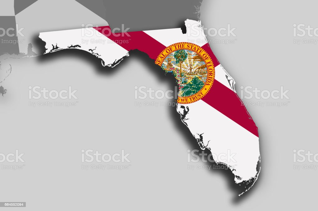 Florida map and flag royalty-free florida map and flag stock vector art & more images of cartography