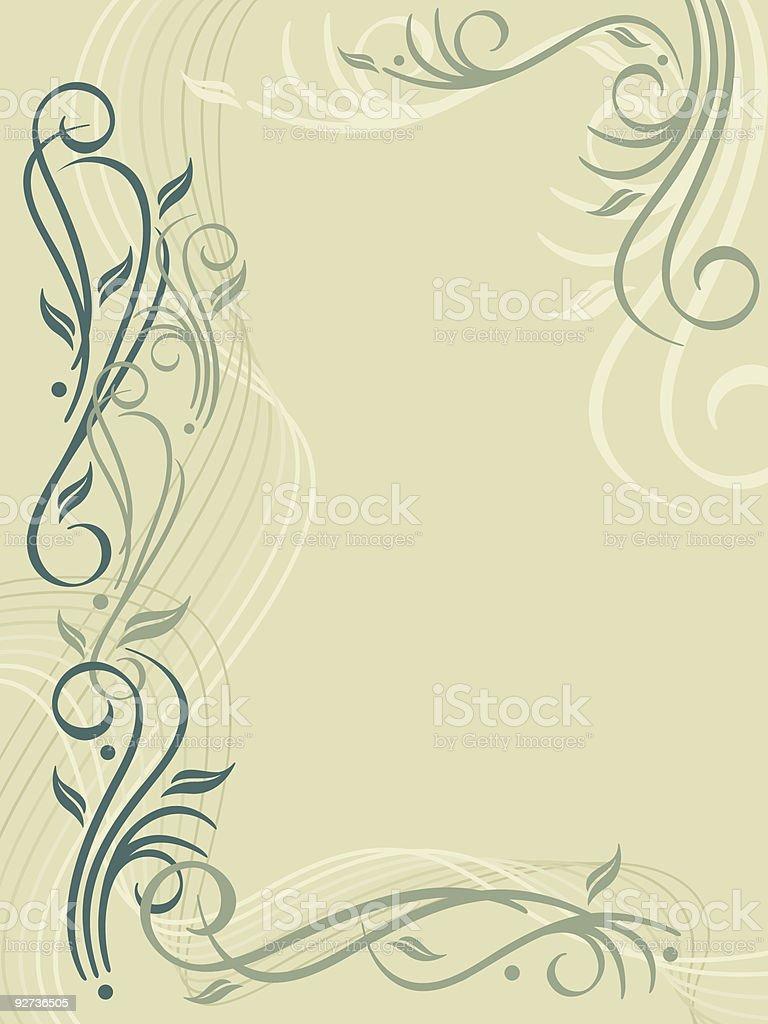 Flourish Background royalty-free stock vector art