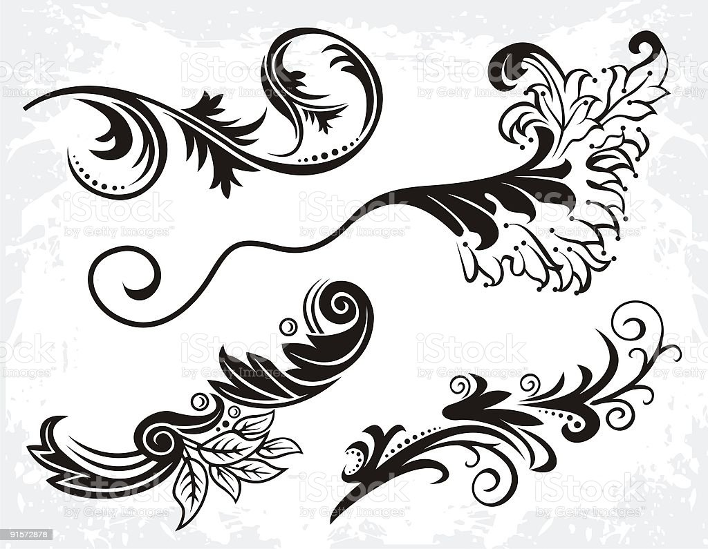 flourish set royalty-free stock vector art