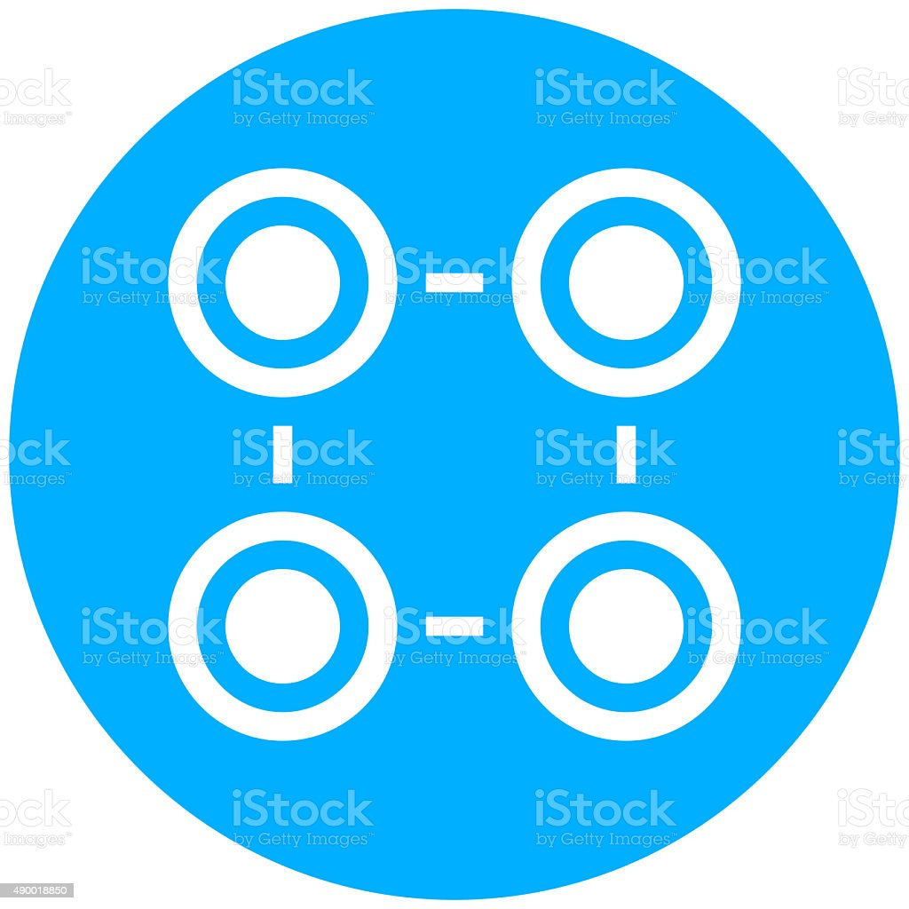 Flowchart icon on a round button. - Round Series royalty-free flowchart icon on a round button round series stock vector art & more images of 2015